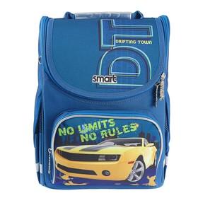 Ранец Стандарт Smart PG-11, 34 х 26 х 14 см, для мальчика, Limits, синий