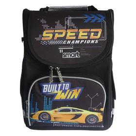 Ранец Стандарт Smart PG-11, 34 х 26 х 14 см, для мальчика, Speed Champions, чёрный