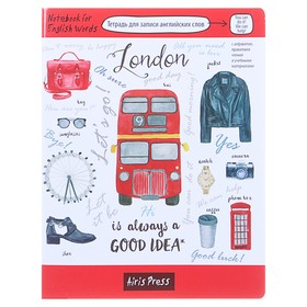 Тетрадь для записи английских слов «Лондон», обложка мелованный картон, глянцевая ламинация, 32 листа