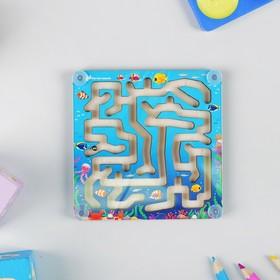 Лабиринт с шариком «Подводный мир» 10 × 10 см