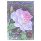Планшет для акварели А5, 20 листов «Розовый сад», блок 200 г/м², палевый лён
