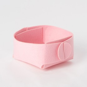 Корзина текстильная для хранения, розовая 12х7 см