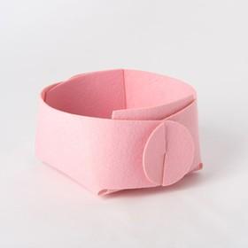 Basket and textile storage, pink 15x10 cm