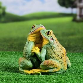"""Садовая фигура """"Две лягушки"""" 22х20см"""