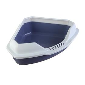 Туалет треугольный 56 х 42 х 17 см, серый