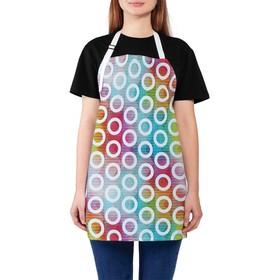 Фартук «Разноцветные круги», размер 65 х 65 см, оксфорд