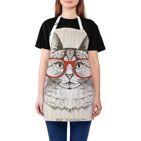 Фартук «Умный кот», размер 68 × 65 см, оксфорд