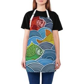 Фартук «Синее море», размер 68 × 65 см, оксфорд