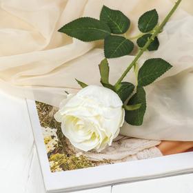 "Artificial flowers ""rose Lili Marlene"" 8*60 cm, white"
