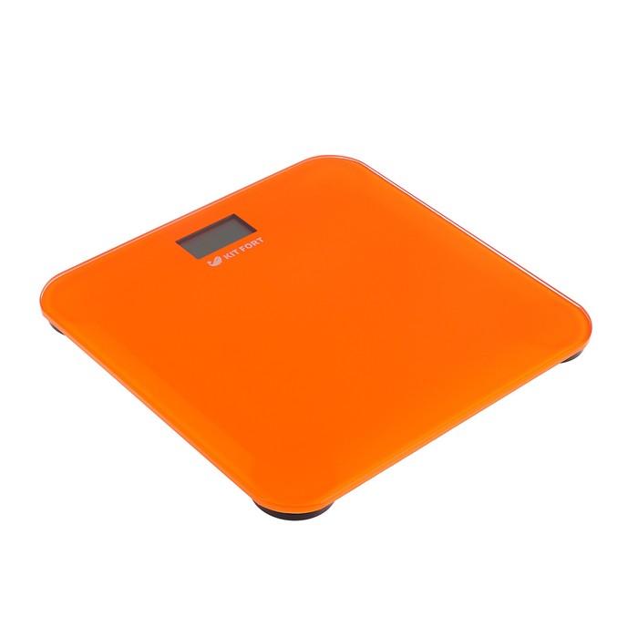 Весы напольные Kitfort КТ-804-5, до 150 кг, от 1хCR2032 (в комплекте), оранжевые