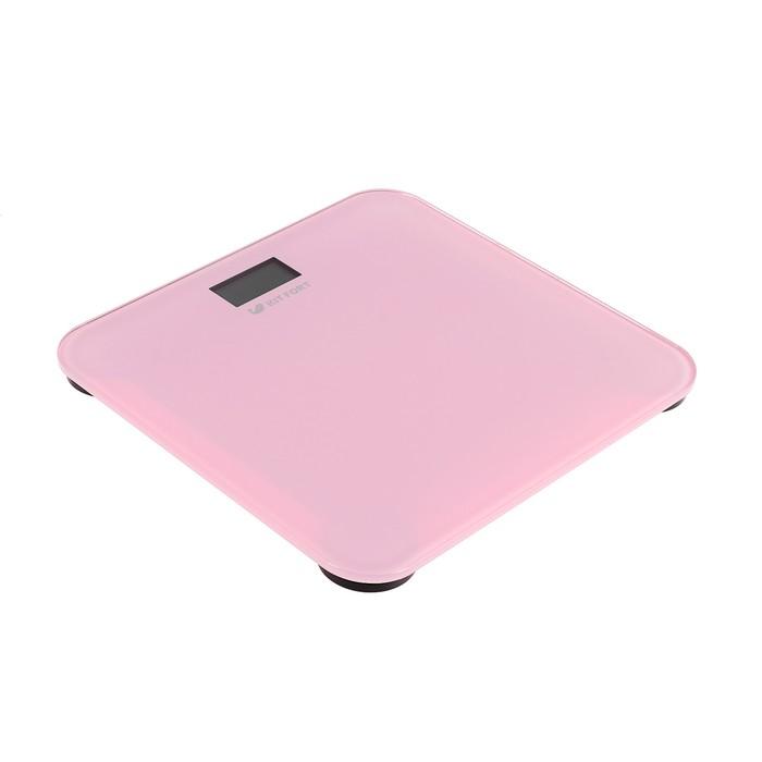 Весы напольные Kitfort КТ-804-2, до 150 кг, от 1хCR2032 (в комплекте), розовые