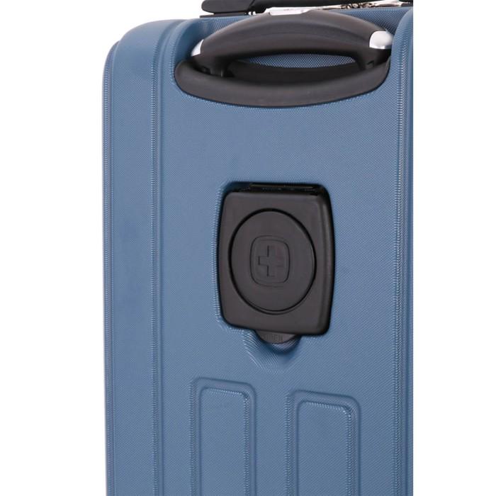 Чемодан Wenger VAUD, синий, с подставкой для кофе, АБС-пластик, 36 x 24 x 57 см, 38 л - фото 1057146