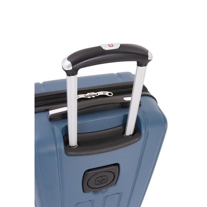 Чемодан Wenger VAUD, синий, с подставкой для кофе, АБС-пластик, 36 x 24 x 57 см, 38 л - фото 1057149