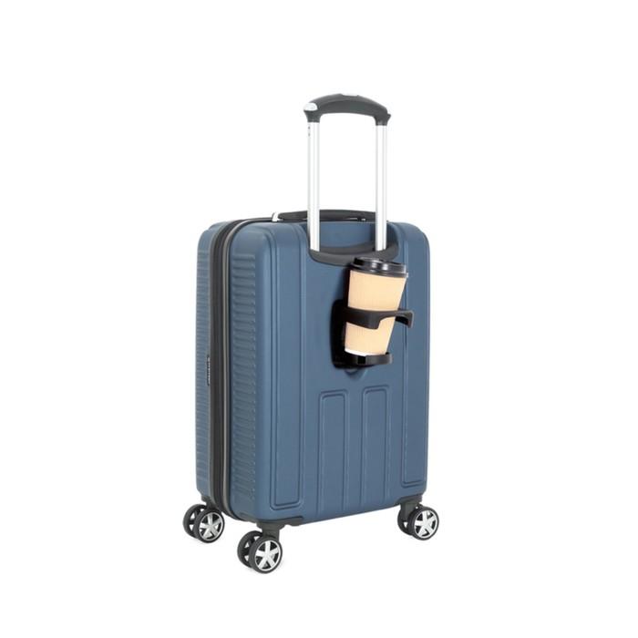 Чемодан Wenger VAUD, синий, с подставкой для кофе, АБС-пластик, 36 x 24 x 57 см, 38 л - фото 1057152