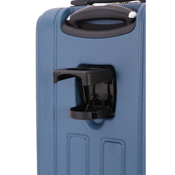 Чемодан Wenger VAUD, синий, с подставкой для кофе, АБС-пластик, 36 x 24 x 57 см, 38 л - фото 1057153