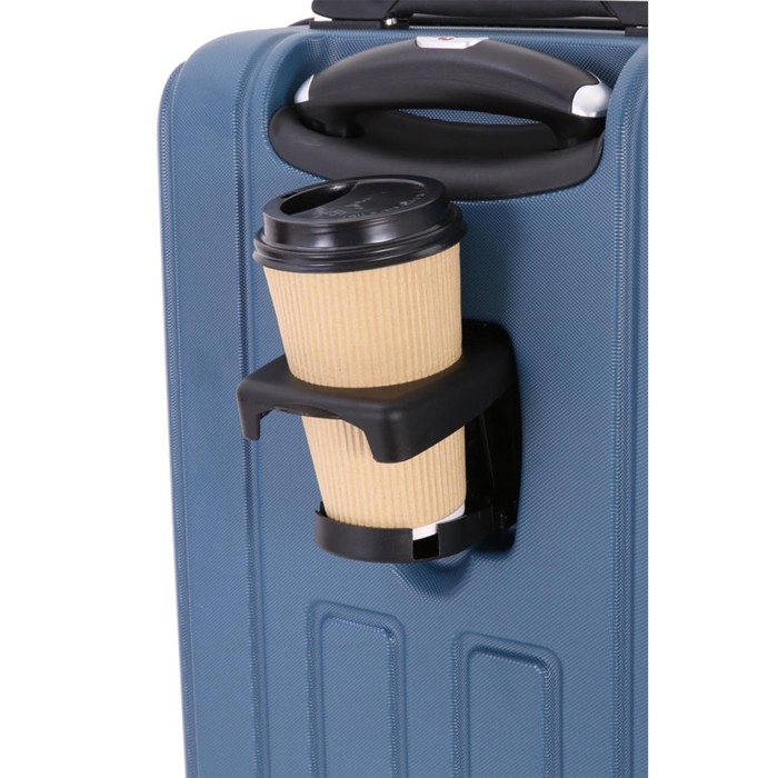 Чемодан Wenger VAUD, синий, с подставкой для кофе, АБС-пластик, 36 x 24 x 57 см, 38 л - фото 1057154