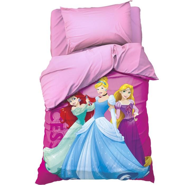 """Детское постельное бельё 1,5 сп """"Принцессы"""" 143х215 см, 150х214 см, 50х70 см -1 шт., поплин 125 г/м2"""
