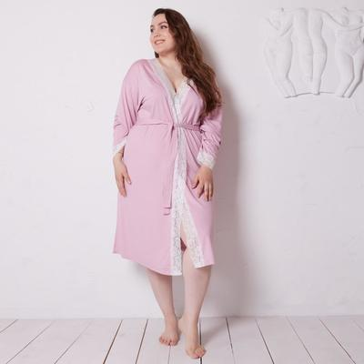 Bathrobe with long sleeves MINAKU, size 52, color pink