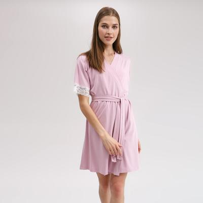 Robe with short sleeves MINAKU, size 50, color pink