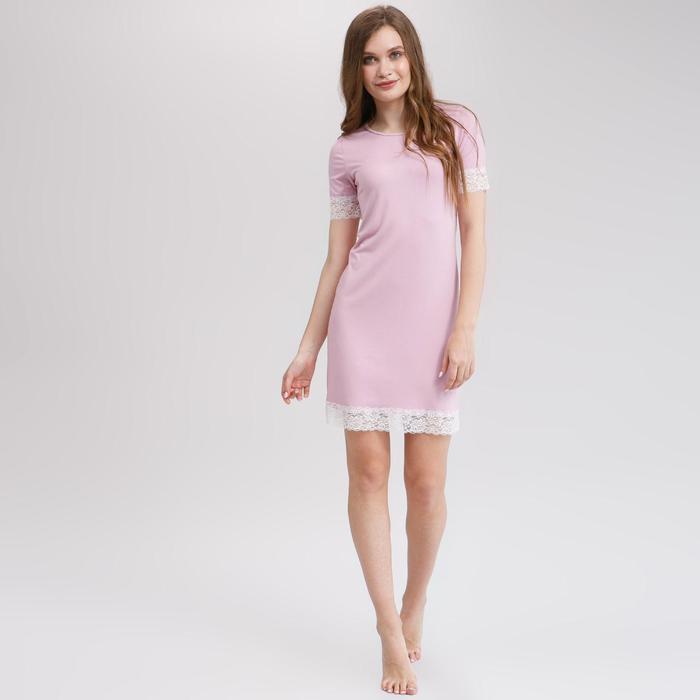 Сорочка с короткими рукавами женская MINAKU, размер 44, цвет розовый