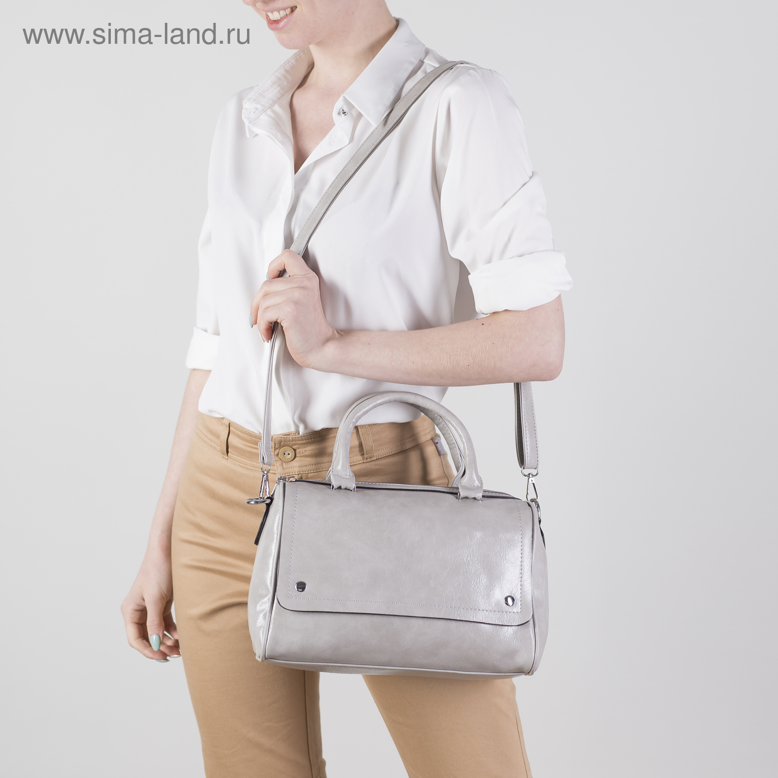 8e9a07649c2f Сумка женская, отдел с перегородкой на молнии, 2 наружных кармана, длинный  ремень,