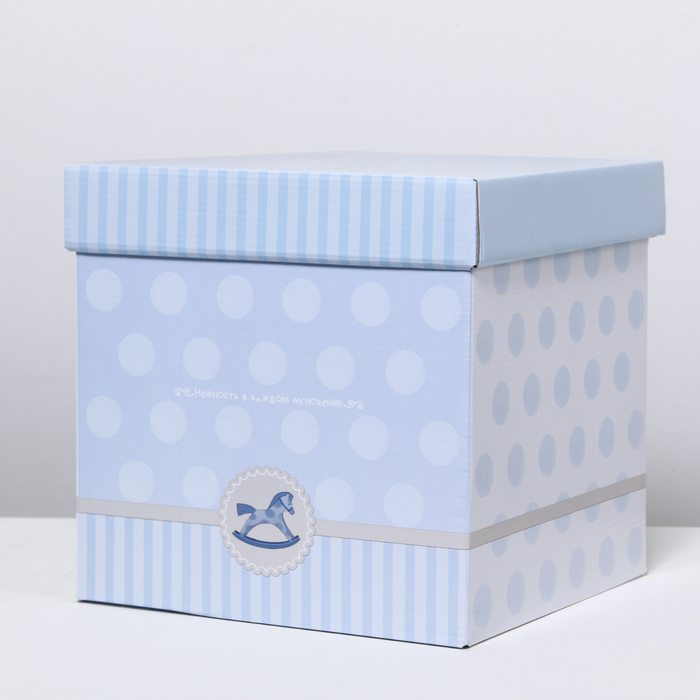 Складная коробка «Малышу», 27.5 × 27.5 × 27.5 см - фото 308275944
