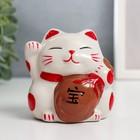 """Piggy Bank ceramic """"Maneki-neko character treasure"""" 7,5х7х7 cm"""