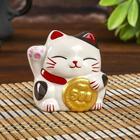 """Piggy Bank ceramic """"Maneki-neko coin"""" 7,5х7х7 cm"""