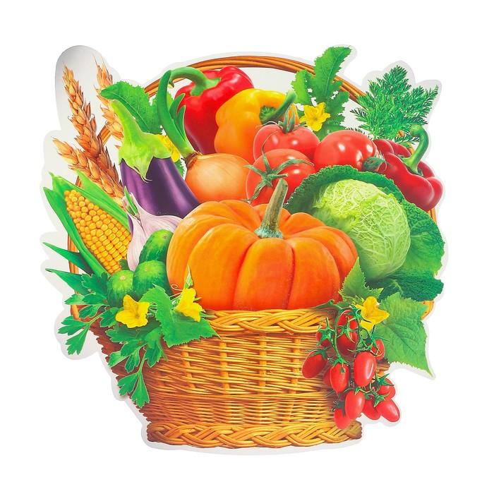 """Украшения на скотче """"Корзинка овощей"""" глиттер, 24 х 25 см"""