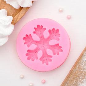 Молд силиконовый «Снежинка», 6,7×6,7 см, цвет МИКС