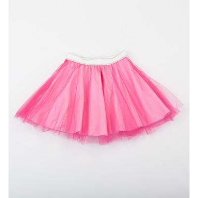Юбка для девочки, цвет розовый, сетка, рост 98 см
