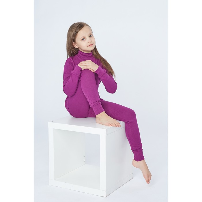 Комплект для девочки 1250 (термо), фиолетовый, рост 116-122 (32) , рибана начес