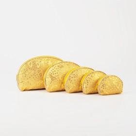 Набор косметичек 5 в 1, отдел на молнии, цвет золото в Донецке