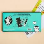 """Набор """"Для котопутешествий"""", туристический конверт, обложка на паспорт, бирка на чемодан - фото 4638282"""