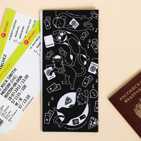 """Набор """"Для котопутешествий"""", туристический конверт, обложка на паспорт, бирка на чемодан - фото 4638276"""