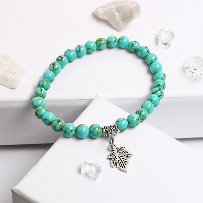 "Bracelet with pendant ball No. 8 ""Turquoise"""