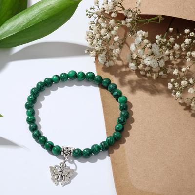 "Bracelet with pendant ball No. 6 ""malachite"""