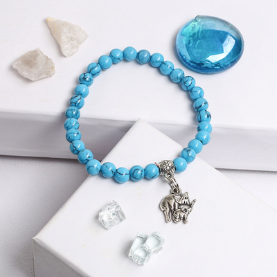 """Bracelet with pendant ball No. 8 """"Turquoise"""""""