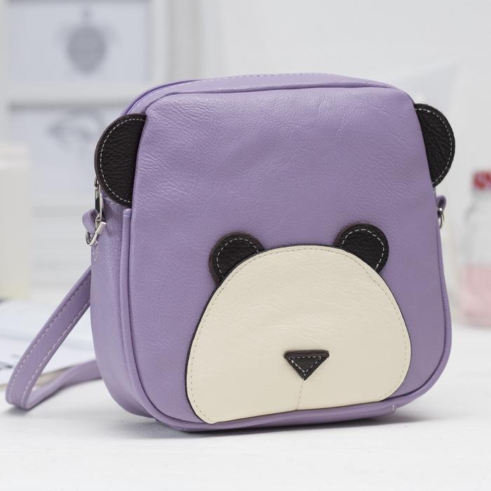 Рюкзак детский, отдел на молнии, цвет сиреневый