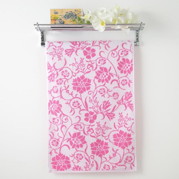 Полотенце махровое Privilea «Полянка», 50х90 см, розовый