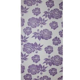Полотенце махровое Privilea Пионы 70х140 см, фиолетовый, хлопок 100%,428 г/м2