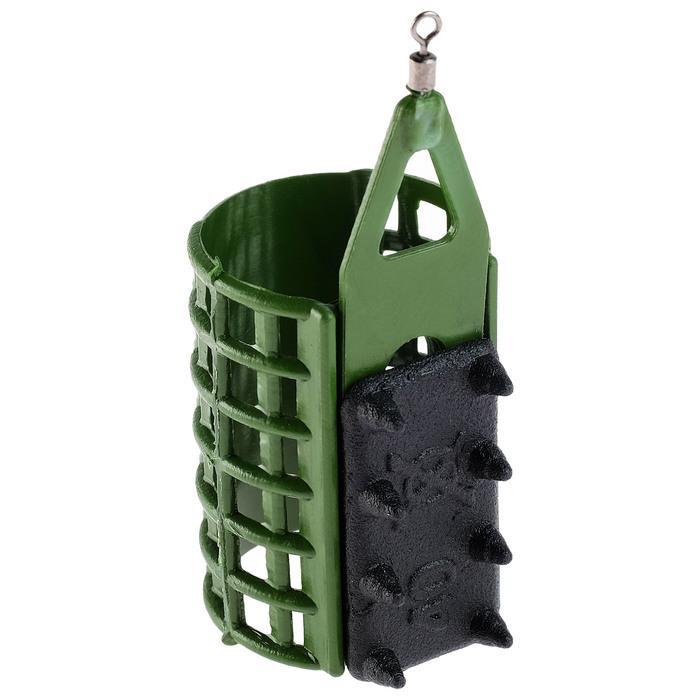 Груз-кормушка фидерная X-FEEDER PL GLASS CLASSIC MIDDLE, 40 г, 35 мл, цвет зелёный