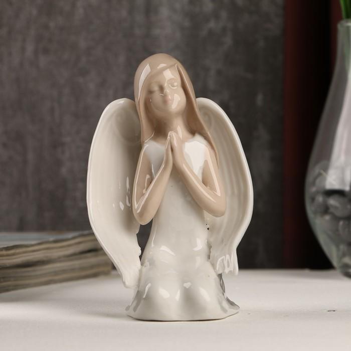 "Сувенир керамика ""Девушка-ангел в белом платье молитва"" 11,5х7х7 см"