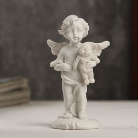 "Souvenir Polyresin ""White angel with Teddy bear"" 8,3x4,2x3 cm"