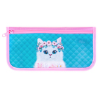 "Soft pencil case 1 compartment, flat, 115 x 215 mm, Calligrata ""Kitten"""