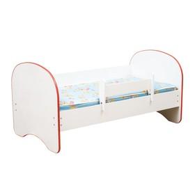 Кровать детская с бортом «Радуга», без ящика, 700 × 1400 мм, цвет белый / кант красный