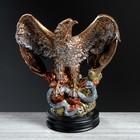 """Статуэтка """"Орёл огромный со змеёй"""", бронзовый, 43 см"""