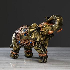 """Статуэтка """"Слон классный"""", бронза, гипс, 26 см, микс"""