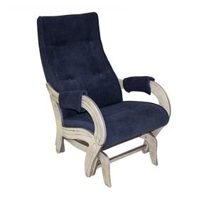 Кресло-качалка глайдер М708, Дуб шампань патина/ткань Verona Denim Blue