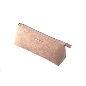 Косметичка Nice, глянцевая кожа, цвет розовый крокодил